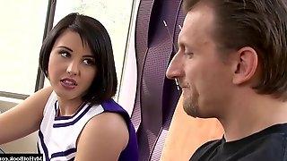 Busty cheerleader fucked in hot scene