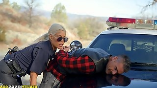 Naughty police woman Bridgette B catches bad guy Charles Dera